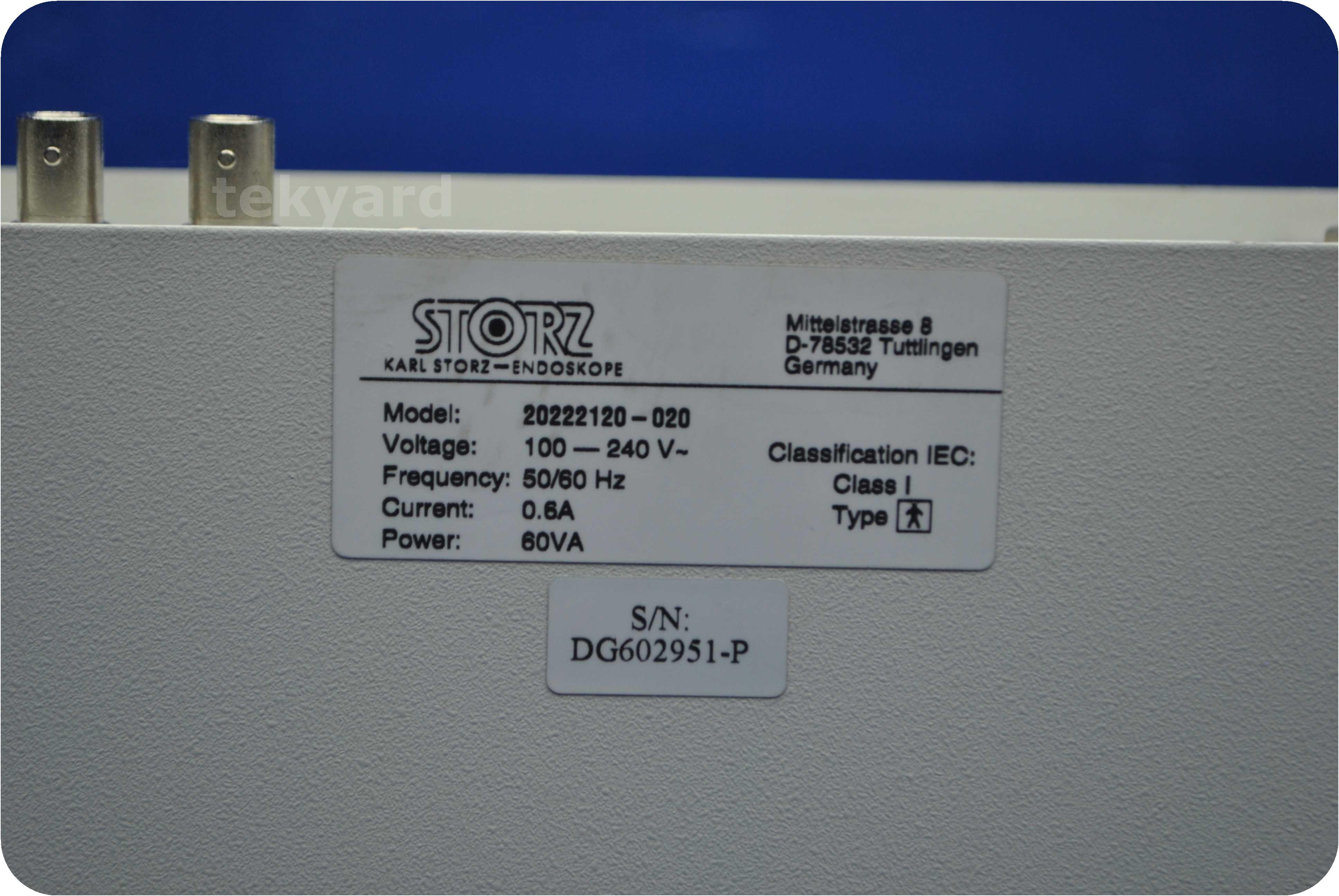 tekyard, LLC  - Karl Storz - Endoskope tricam SL ntsc 202221
